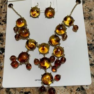 """Jewelry - Brown bubble """"Amber"""" Necklace"""